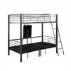 Bunk Bed - Twin Size / Charcoal Grey Metal