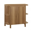 """Home Bar - 36""""H / Walnut With Bottle And Glass Storage"""