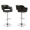 Barstool - Dark Brown / Chrome Metal Hydraulic Lift