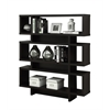 "Bookcase - 55""H / Cappuccino Modern Style"