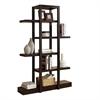 "Bookcase - 71""H / Cappuccino Open Concept Display Etagere"