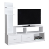 """Tv Stand - 60""""L / White With A Display Tower"""