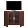 "Tv Stand - 42""L / Warm Cherry Corner With Glass Doors"