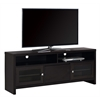 "Tv Stand - 60""L / Cappuccino With Glass Doors"