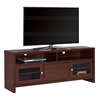 """Tv Stand - 60""""L / Warm Cherry With Glass Doors"""