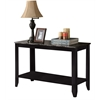"""Console Table - 44""""L / Black / Grey Marble Top"""