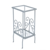"Accent Table - 30""H / Silver Metal With Tempered Glass"