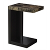 Accent Table - Cappuccino / Marble-Look Top