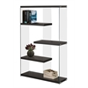 "Bookcase - 60""H / Cappuccino With Tempered Glass"