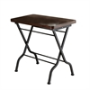 Accent Table - Cherry / Charcoal Black Metal Folding