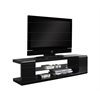 "Tv Stand - 60""L / High Glossy Black With Tempered Glass"