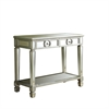"Console Table - 38""L / Brushed Silver / Mirror"