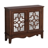 Accent Chest - Dark Walnut / Mirror Traditional Style