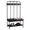 """Bench - 60""""H / Charcoal Grey Metal Hall Entry"""
