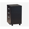 Filing Cabinet - 3 Drawer / Cappuccino On Castors