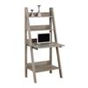 """Computer Desk - 61""""H / Dark Taupe Ladder Style"""