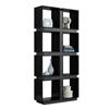 "Bookcase - 71""H / Black / Grey"
