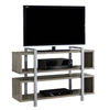 "Bookcase - Tv Stand / 48""L X 32""H / Dark Taupe"