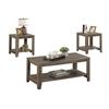 Table Set - 3Pcs Set / Dark Taupe