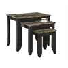 Nesting Table - 3Pcs Set / Cappuccino Marble Top