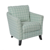 """Accent Chair - Faded Green """" Angled Kaleidoscope """" Fabric"""