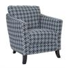 "Accent Chair - Dark Blue "" Angled Kaleidoscope "" Fabric"
