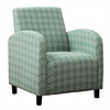 """Accent Chair - Faded Green """" Angled Kaleidoscope """""""