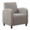 "Accent Chair - Grey / Earth Tone "" Hexagon "" Fabric"
