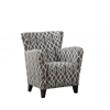 "Accent Chair - Grey / Beige "" Wave "" Fabric"