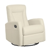 Recliner - Swivel Rocker / Ivory Bonded Leather
