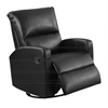 Recliner - Swivel Glider / Black Bonded Leather