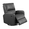 Recliner - Swivel Glider / Charcoal Grey Bonded Leather