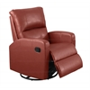 Recliner - Swivel Glider / Red Bonded Leather