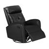 Recliner - Swivel Glider / Black Bonded Leather