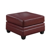 Ottoman - Red Bonded Leather
