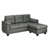 Sofa Lounger - Light Grey Bonded Leather