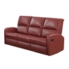 Reclining-Sofa Red Bonded Leather