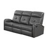 Reclining-Sofa Charcoalgrey Bonded Leather