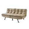 Futon - Split Back Click Clack / Light Taupe Micro-Suede
