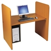 BALT H Carrel, Laminate, 43w x 27-3/4d x 42h, Natural Cherry