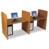BALT Add-On H Carrel, Laminate, 43w x 27-3/4d x 42h, Natural Cherry