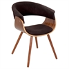 LumiSource Vintage Mod Chair, Walnut / Espresso