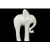 Ceramic Standing Elephant Figurine with Long Legs Figurine Gloss Finish White