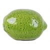 Ceramic Lime Figurine with Craquelure Gloss Finish Yellow Green