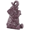 Ceramic Trumpeting and Sitting Up Elephant Figurine with Arms Crossed LG Gloss Finish Purple