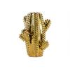 Ceramic Cactus Shaped Vase Polished Chrome Finish Gold