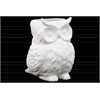 Porcelain Owl Figurine/Vase Matte Finish White