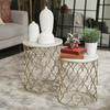 Ceramic 12 Point Stellated Icosahedron Sculpture LG Polished Chrome Finish Silver