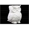 Ceramic Owl Figurine/Vase Matte Finish White