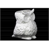 Ceramic Owl Figurine/Vase Gloss Finish White